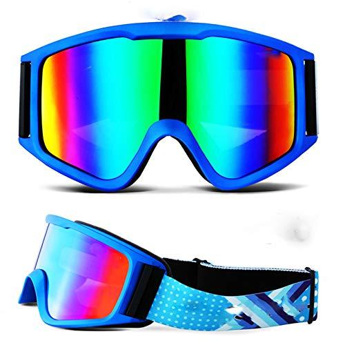 FEKGHJMO Doppelscheibe Skibrille Soft Cylinder Windschutzscheibe Skibrille Mountain Alpine Brille Für Kinder Männer Frauen Snowboarden