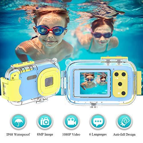 Kinderkamera Fotoapparat Kinder Wiederaufladbare 1080P HD Kinder Kamera 1,77 Farbdisplay Digitalkamera Kinder Geburtstag Weihnachten Neujahr Festival Geschenk für Mädchen Jungen