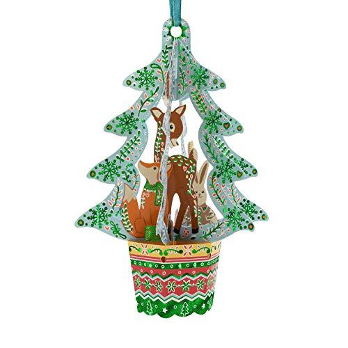 Woodland Animals Tree Bauble - S...