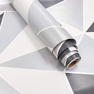 Hode Papel Adhesivo Decorativo para Pared Puerta Muebles Geometrico 45x200cm