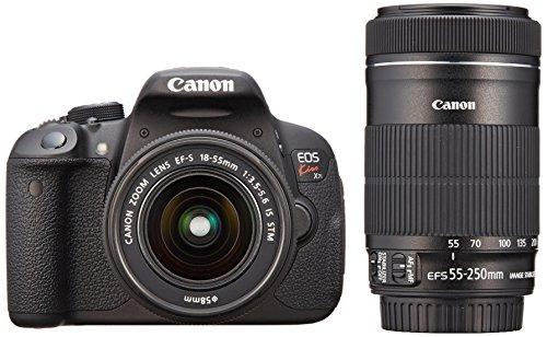 Canon デジタル一眼レフカメラ EOS Kiss X7i ダブルズームキット EF-S18-55 IS STM/EF-S55-250 IS STM付属 ...
