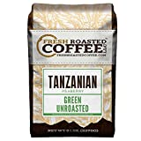 Fresh Roasted Coffee LLC, Green Unroasted Tanzanian Peaberry Coffee Beans, 5 Pound Bag