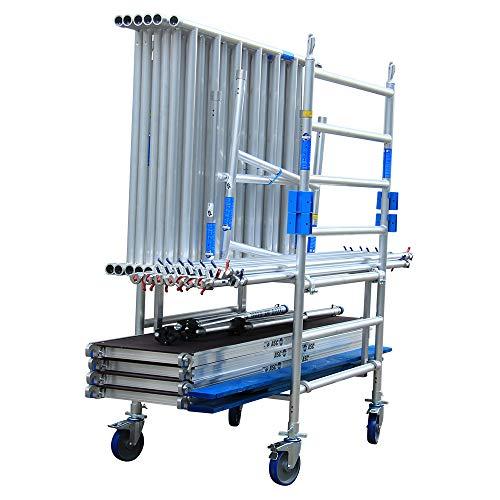 Alumexx Transportframe - Set van 2 - Trolley - Steiger - Materiaal - Steiger - Toebehoren - Steiger - Onderdelen - Rol - Steiger - Transport