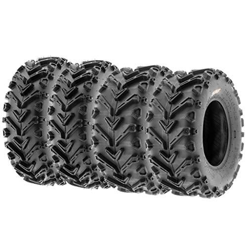 Set of 4 SunF A041 Mud & Trail 24x8-12 Front & 24x10-11 Rear ATV UTV off road Tires, 6 PR, Tubeless