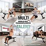 Sportstech Banc de Musculation Pliable Multifonction Sit-up Fitness BRT100/500 inclinable muscu Entrainement, réglable, poignées Push-up Fitness Muscles abdominaux #1