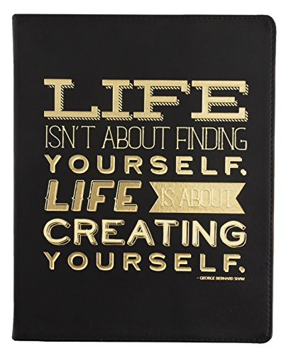 Eccolo 8 x 10 Inches Desk Size Journal, Black Creating Yourself (D505J)