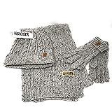 Conjunto de guantes, bufanda y gorro para mujer. Set de 3 piezas en varios colores. Acrílico + Lana (Gris)