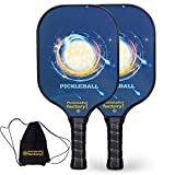 Pickleball Set, Pickleball Paddles, Pickleball Paddle Set of Two, Planet Pickleball Gifts for Women with Core Bag as Pickleball Gifts for Women Men Beach Ball Game Outdoor