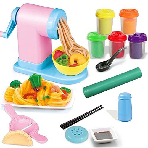 LUBINGT plasticinas Noodle Maker Niños DIY Plasticine Fideos Maker Máquina de Helado Molde Play Toy Fun Modeling Dough Dough Playset para niñas y niños