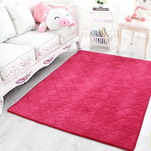 WLH- Carpet Bedside Bedroom winkel vol Bed Voorzijde woonkamer koffietafel Rechthoekige Mats (Color : Red, Size : 140x200cm)