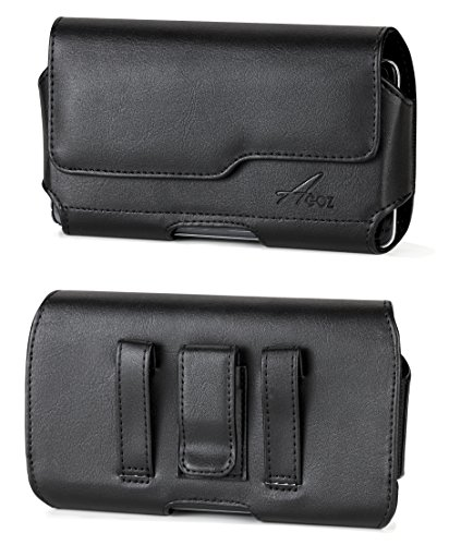 AGOZ CAT S60 S61 S62 PRO S52 S48C S41 S40 S31 DEWALT Phone MD501 Belt Clip Case, Premium Leather Pouch Holster Cover with Belt Clip & Loops and Magnetic Closure