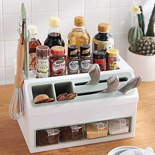 GRX-ZNLJT Home Multifunctionele kruidenrek/kruidenrek, voor keukenkast, keuken, organizer, vrijstaand keukenrek, keukenorganizer voor kruidenpotjes, flessen en blikjes