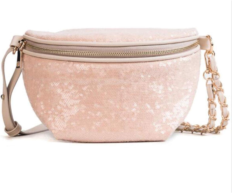 Sturdy Waist West Pouch Body Handbag PU Leather Womens Fashionable Cute Multifunction Slanting Large Capacity (color   orange)