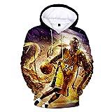 Pullover NBA Kobe Bryant Hoodies Jersey 3D Print Sport Hombre Manga Larga Ropa Sudaderas, M