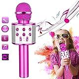 CYKT Top de micrófono de Karaoke para niños para niñas de 3 a 12 años, micrófono de Karaoke inalámbrico Altavoz Bluetooth, Juguetes Populares para niñas de 3, 4, 5, 6, 7, 8, 9, 10, 11 y 12 años