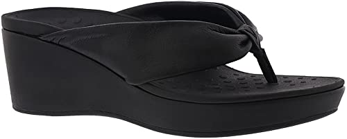 Vionic Wohommes Atlantic Arabella Toe-Post Toe-Post Platform Wedge Sandal noir 9 M US