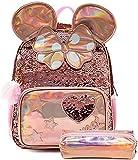 Borsa da scuola per bambini, zaino per ragazze con design olografico zaino per bambini perfetto per viaggi scolastici, borse leggere per ragazze, regali Rabit per ragazze adolescenti, 35×18×43CM, rosa
