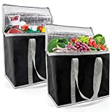 Insulated-Grocery-Bags-Shopping-Cooler-Thermal-Tote 2 Pack for Hot Cold Frozen Food Transport...
