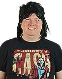 HDE Men's Black Waynes Mullet Wig Adult 80s Hockey Hair Halloween Costume
