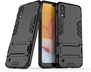 Case for Samsung Galaxy A01 (5.7 inch) 2 in 1 Shockproof with Kickstand Feature Hybrid Dual Layer Armor Defender Protectiv...