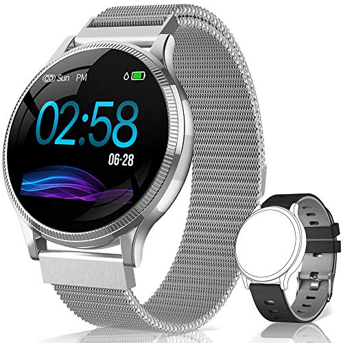 AIMIUVEI Smartwatch, Orologio Fitness Donna Uomo Impermeabile IP67 Activity Tracker Bluetooth Cardiofrequenzimetro Pressione Sanguigna Contapassi Caloria per iOS Android