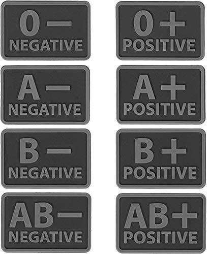 Helikon-Tex Blutgruppen Patch (Set - 2 pcs.) - PVC - Schwarz