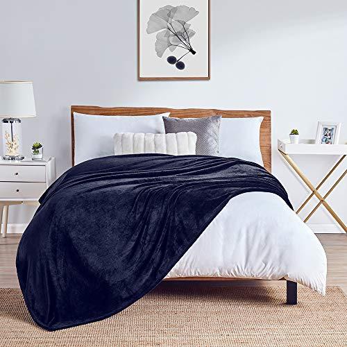 Walensee Fleecedecke, flauschig, leicht, für Queen-Size-Bett, 228,6 x cm, marineblau, superweiche Mikrofaser-Flanell-Decken Couch, Bett, Sofa, ultra-luxuriös, warm und gemütlich alle Jahreszeiten.