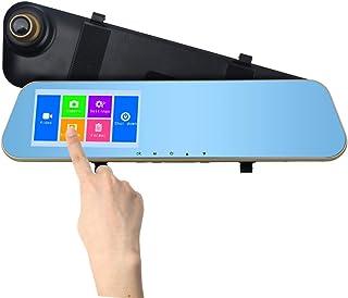 Distinct® Spiegel Auto Camera 4,3 Inch Touchscreen Dual Lens 720P Front Video Recorder en Achteruitkijkcamera met Parkeerm...