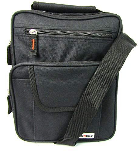 Mens Ladies Canvas Messenger Shoulder/Travel Utility Work BAG Cross Body (Black), One Size