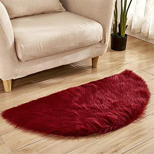 DHHY Halbrund Teppich Plüsch Teppich Home Wohnzimmer Dekoration Schlafzimmer Erker Tür Matte H 30X60 cm
