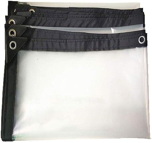 XZ15 Tissu imperméable au Rebord de la fenêtre en Tissu de Pluie Balcon Pare-Brise Film Transparent Tente extérieure auvent Transparent Tissu de Verre Doux (Taille   3  8m)