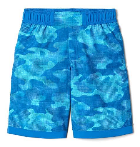 Columbia Sandy Shores Pantalones Cortos, Bright Indigo Spotted Camo, L para Niños