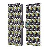 Head Case Designs Polygones Verts Estampes Géométriques Optiques Coque en Cuir à Portefeuille Compatible avec Apple iPhone 7 Plus/iPhone 8 Plus