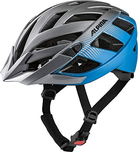 ALPINA PANOMA 2.0 LE Fahrradhelm, Unisex– Erwachsene, darksilver-blue, 52-57
