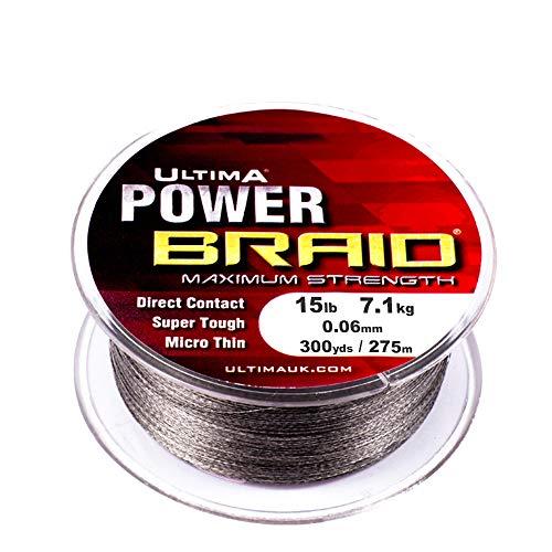 Ultima Power Braid Super Strong Micro Braid Fishing Line Cloud Grey 023 mm 80 lb