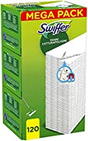 Swiffer Dry Panni Cattura Polvere, 120 Panni, Cattura e Intrappola Polvere e Sporco, Ottimo per I peli di Animale, per...