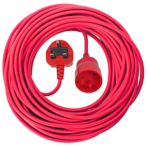 SPARES2GO 10m Mains Power Cable UK 3 Pin Plug Compatible with Qualcast Lawnmower Strimmer