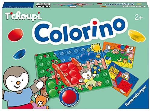 Ravensburger - Colorino T'Choupi - Jeu Educatif - Mon premier jeu des couleurs - A partir de 2 ans - 24553 - 1 joueur ou plus