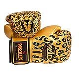 Un par de guantes de boxeo de entrenamiento de boxeo para adultos de 10 onzas (amarillo)