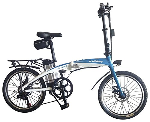 Helliot Bikes By 02, Bici Elettrica Pieghevole Unisex Adult, Bianco, Taglia Unica