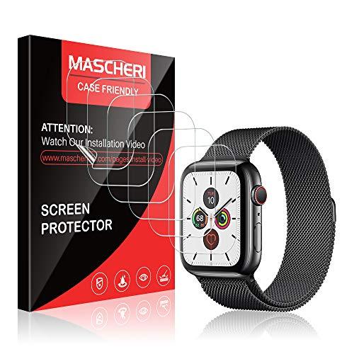 MASCHERI Kompatibel mit Apple Watch Series 5 44mm Schutzfolie, [6 Stück] [TPU-Folie] [kein Glas] HD Soft Displayschutz Displayschutzfolie Display Folie Für Apple Watch 44mm Series 5/4