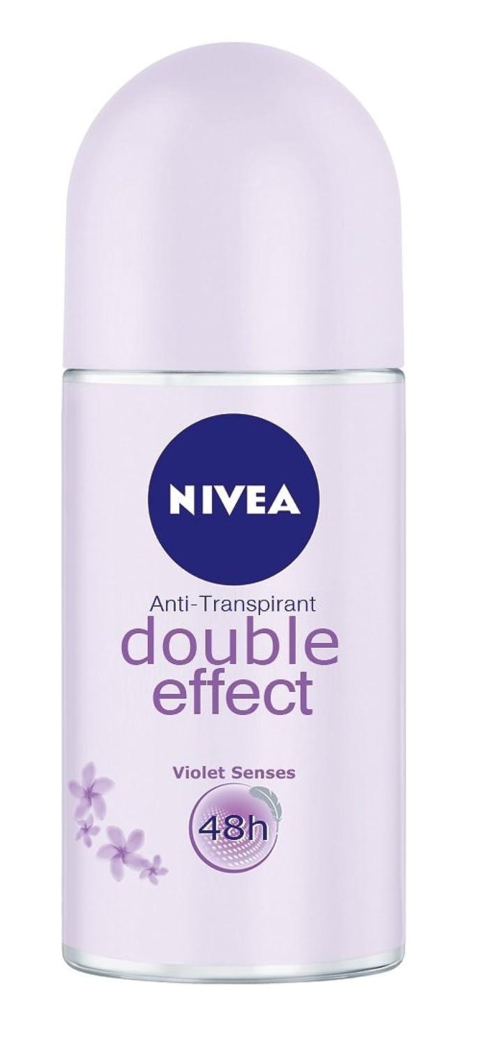 ゾーン制限された森林Nivea Double Effect (Violet Senses) Anti-perspirant Deodorant Roll On for Women 50ml - ニベアダブル効果(バイオレット感覚) 制汗剤デオドラントロールオン女性のための50ml