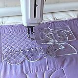 HONEYSEW RL-06 - Juego de 6 plantillas de costura para máquina de coser doméstica con pie de regla de metal, 5.6MM, 1