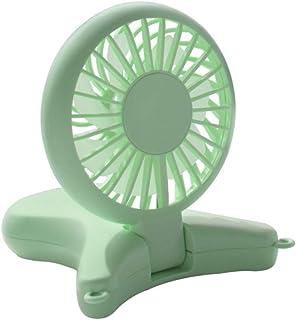 YEATOP Ventilador USB,Ventiladores,Cuello Colgante Duradero Ventilador pequeñoUSBVentilador deMano Plegable al Aire Libre Plegable