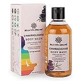 Bella Vita Organic Chakra Cleansing Body Wash Shower Gel Aura Boosting Positivity With Himalayan Rock Salt, Real Coffee Beans & Essential Oils