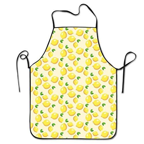 Gelbe Limonade Unisex Anti Dirt Schürze Barbecue Schürze für Chefkoch Küche Restaurant Cafe Studio