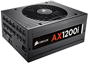 CORSAIR AXi Series, AX1200i, 1200 Watt, 80+ Platinum Certified, Fully Modular - Digital Power Supply
