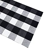 Black White Cotton Rug Checkered Doormat Plaid Area Rug Entry Way Porch Mat