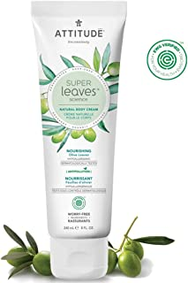 ATTITUDE Super Leaves, Hypoallergenic Nourishing Body Cream, Olive Leaves, 8 Fluid Ounce
