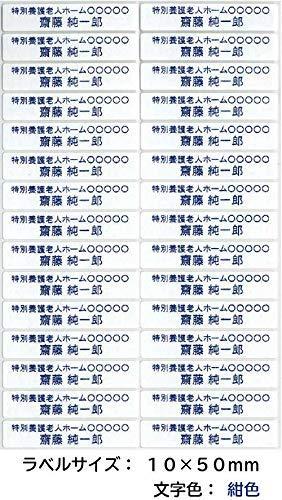 介護お名前シール 衣類用アイロンラベル(施設管理用 介護ネームシール)100枚セット (10mm×50mm, 白)